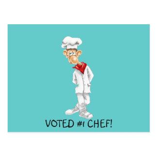 Cartão Postal Desenhos animados do cozinheiro chefe com