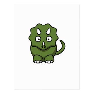 Cartão Postal desenhos animados do dinossauro verde