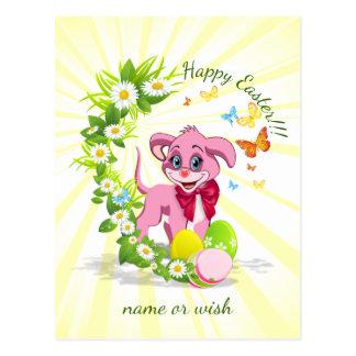 Cartão Postal Desenhos animados do filhote de cachorro do nariz