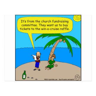 Cartão Postal desenhos animados do fundraiser de 501 igrejas