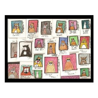 Cartão Postal Desenhos animados do gato de Conroy
