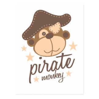 Cartão Postal Desenhos animados do pirata legal
