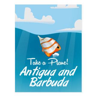 Cartão Postal Desenhos animados do poster de viagens do feriado
