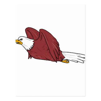 Cartão Postal Desenhos animados do vôo da águia americana