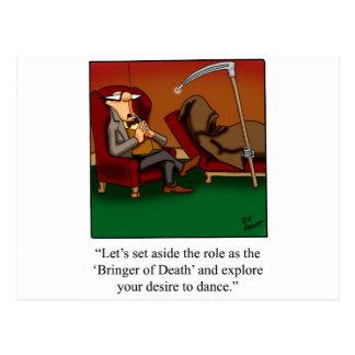 Cartão Postal Desenhos animados engraçados da dança do Ceifador