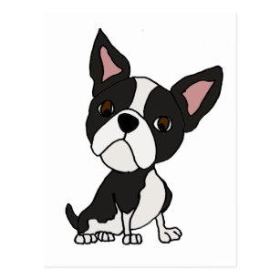 Cartão Postal Desenhos animados engraçados do cão de filhote de