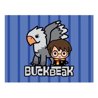 Cartão Postal Desenhos animados Harry Potter e Buckbeak