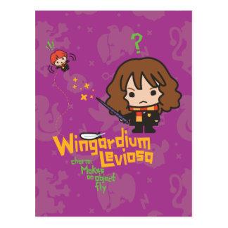 Cartão Postal Desenhos animados Hermione e período de Ron
