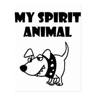 Cartão Postal Desenhos animados maus engraçados do animal do