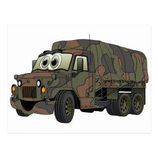 Cartão Postal Desenhos animados militares do portador de tropa