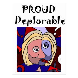 Cartão Postal Desenhos animados políticos deploráveis orgulhosos