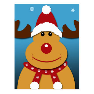 Cartão Postal Desenhos animados Rudolph os presentes do Natal da