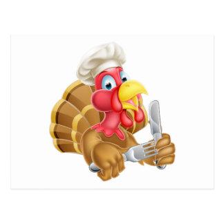 Cartão Postal Desenhos animados Turquia do cozinheiro chefe