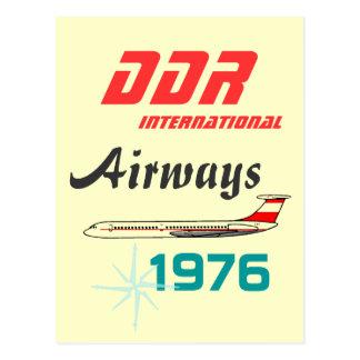 Cartão Postal Desenhos de publicidade Interflug DDR