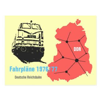 Cartão Postal Desenhos de publicidade para informação de mapa de