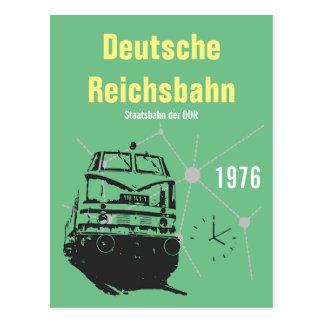 Cartão Postal Desenhos de publicidade Reichsbahn Alemão DDR