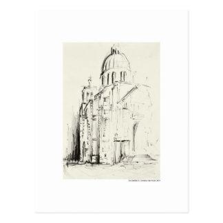 Cartão postal desenhos lápis Hanôver paisagem