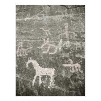 Cartão Postal Desenhos na parede da caverna em Garganta de