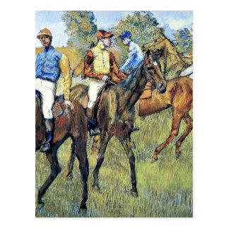 Cartão Postal Desgaseifique - os cavalos de raça, 1878,