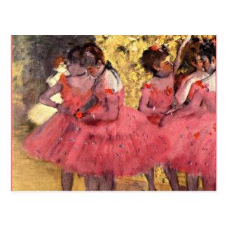 Cartão Postal Desgaseifique - os dançarinos cor-de-rosa