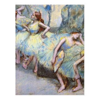 Cartão Postal Desgaseifique os dançarinos de balé impressionista