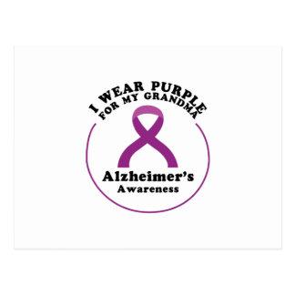 Cartão Postal Desgaste da consciência de Alzheimers para meu