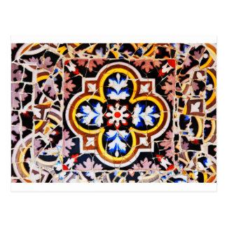 Cartão Postal Design abstrato