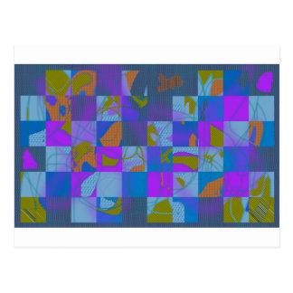 Cartão Postal Design abstrato da Multi-Cor