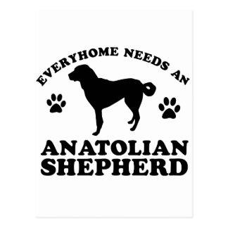 Cartão Postal Design anatólio do vetor do cão de pastor