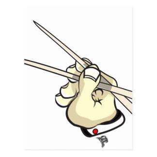 Cartão Postal Design asiático das varas da costeleta