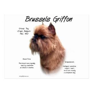 Cartão Postal Design (áspero) da história de Bruxelas Griffon