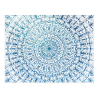 Cartão Postal Design boémio do Fractal do azul do céu e de