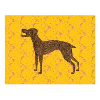 Cartão Postal Design bonito do cão