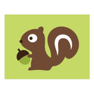 Cartão Postal Design bonito do esquilo do bebê