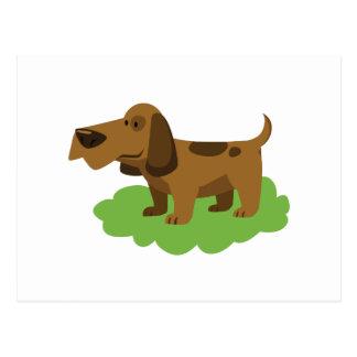 Cartão Postal design bonito dos desenhos animados do cão