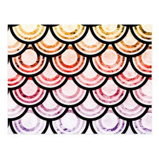 Cartão Postal Design brilhante da arte dos Scallops