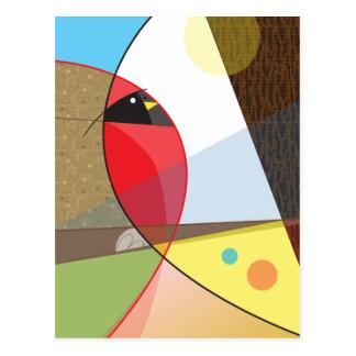 Cartão Postal Design cardinal do pássaro