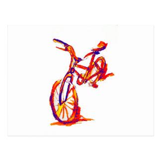 Cartão Postal Design colorido da bicicleta