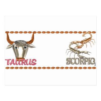 Cartão Postal Design da amizade do zodíaco da Escorpião do