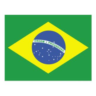 Cartão Postal Design da bandeira de Brasil