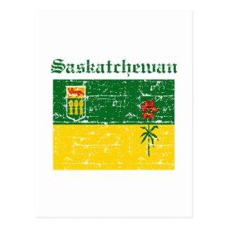 Cartão Postal Design da bandeira de Saskatchewan Canadá