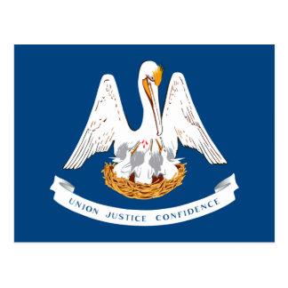 Cartão Postal Design da bandeira do estado de Louisiana