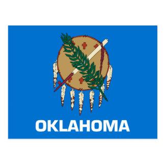 Cartão Postal Design da bandeira do estado de Oklahoma