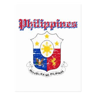 Cartão Postal Design da brasão de Filipinas