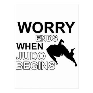 Cartão Postal Design da camisa do judo T
