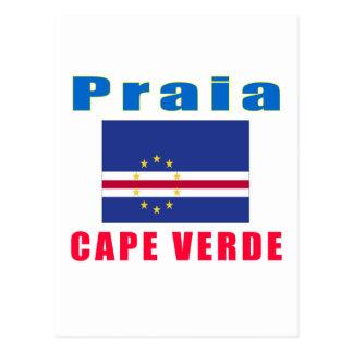 Cartão Postal Design da capital de Cabo Verde do Praia