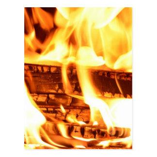 Cartão Postal Design da chama do fogo
