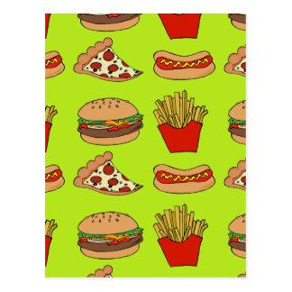 Cartão Postal Design da comida lixo