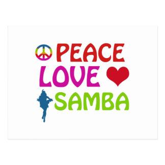 Cartão Postal Design da dança da samba