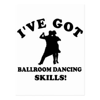 Cartão Postal Design da dança de salão de baile
